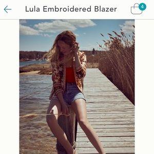 Anthropologie Vineet Bahl Lula embroidered blazer